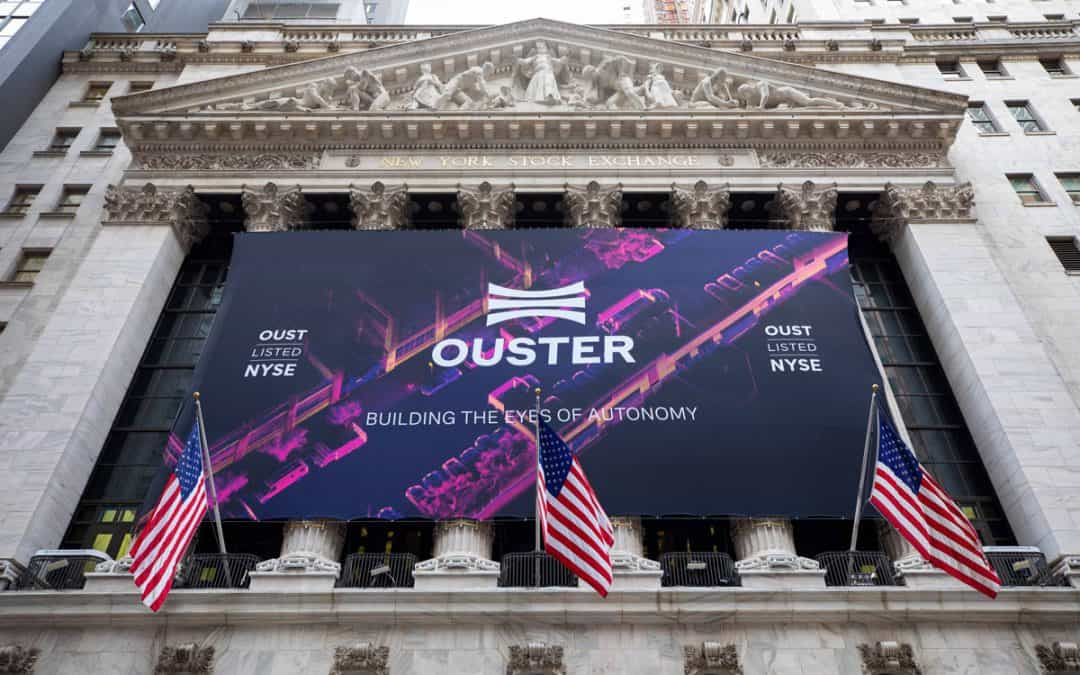 Custom Banners New York Stock Exchange Ouster Company