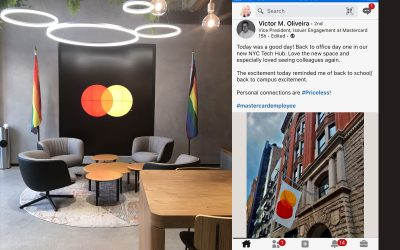 Custom Indoor & Outdoor Pride Flags for Mastercard's new office building by National Flag & Display