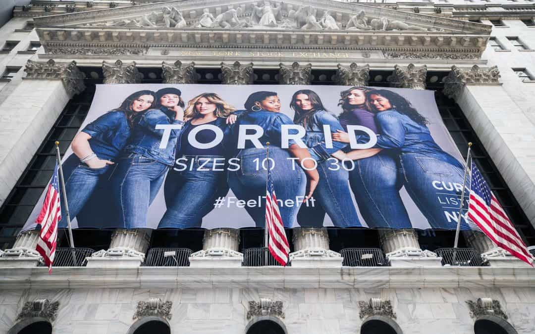 National Flag & Display produces the Custom Banners at The New York Stock Exchange, for the Initial Public Offerring of the Torrid Company.